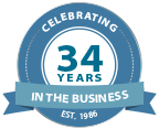 Celebrating 34 Years in Business