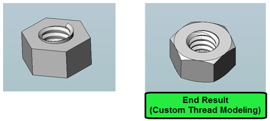solidworks custom thread modeling step5