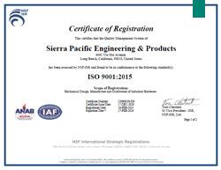 ISO Certificate of Registration Pg. 1 or 2