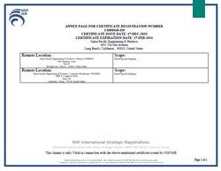 ISO Certificate of Registration Pg. 2 or 2